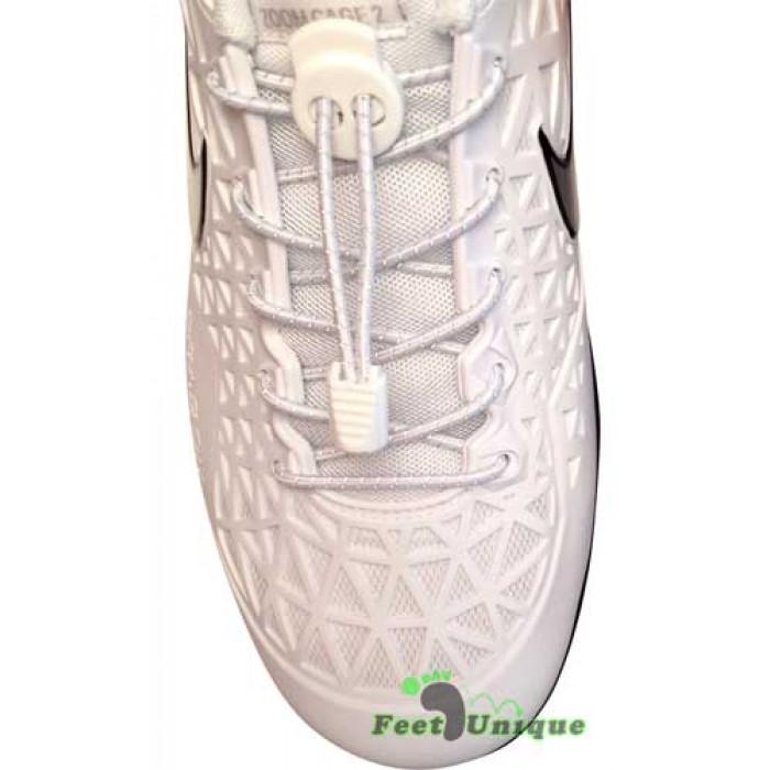 Heijastavat lukolliset valkoiset kengännauhat