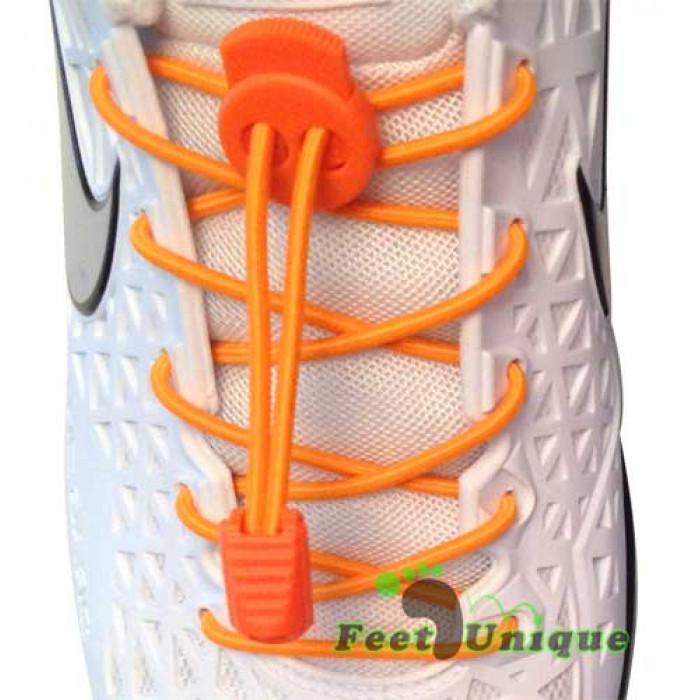 Elastiset lukolliset oranssit kengännauhat