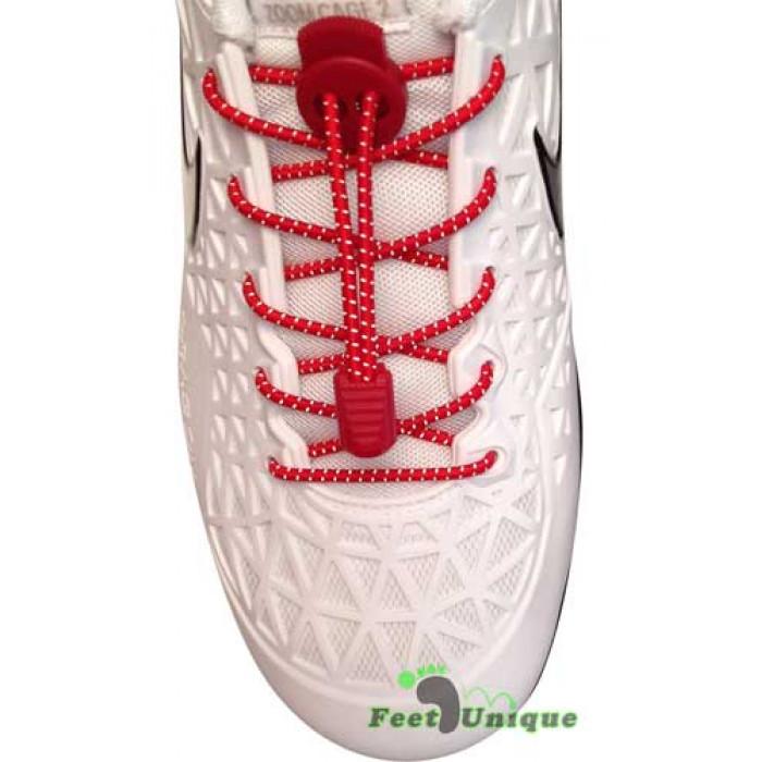 Heijastavat lukolliset punaiset kengännauhat