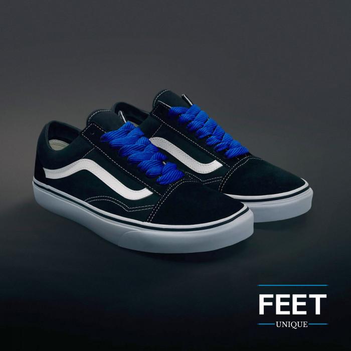 Ekstraleveät siniset kengännauhat