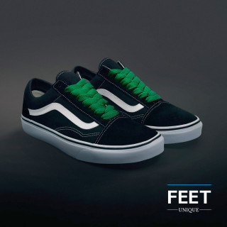Ekstraleveät vihreät kengännauhat