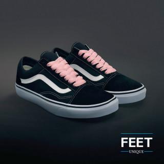 Ekstraleveät pinkit kengännauhat