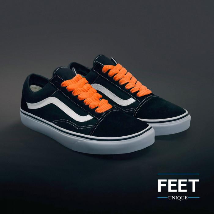 Ekstraleveät oranssit kengännauhat