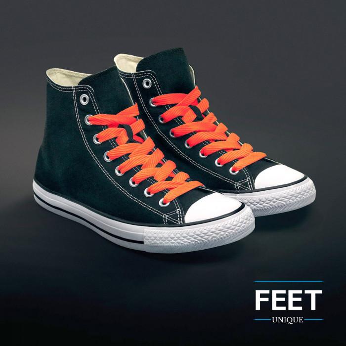 Ekstraleveät neonoranssit kengännauhat