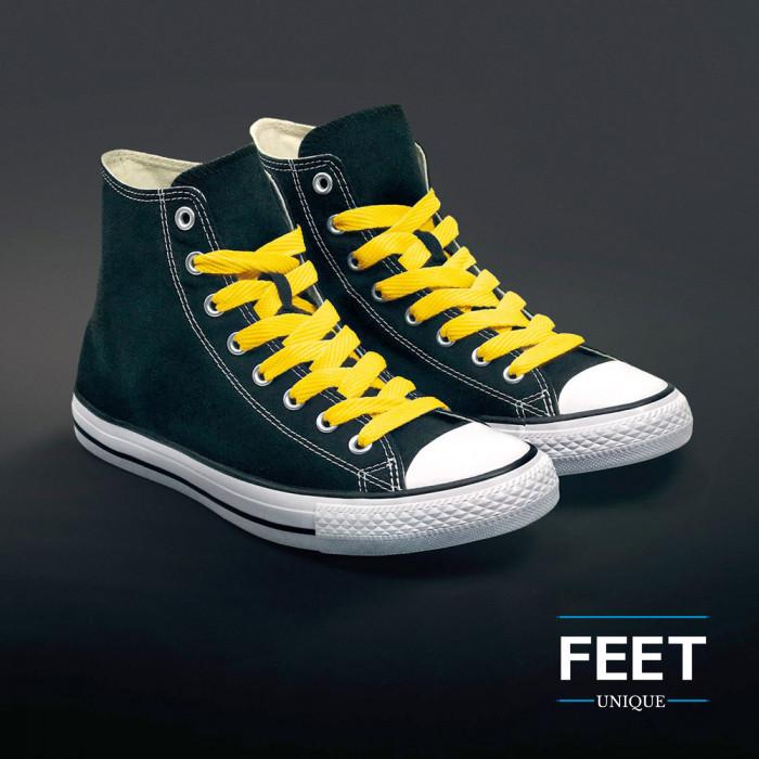 Ekstraleveät keltaiset kengännauhat