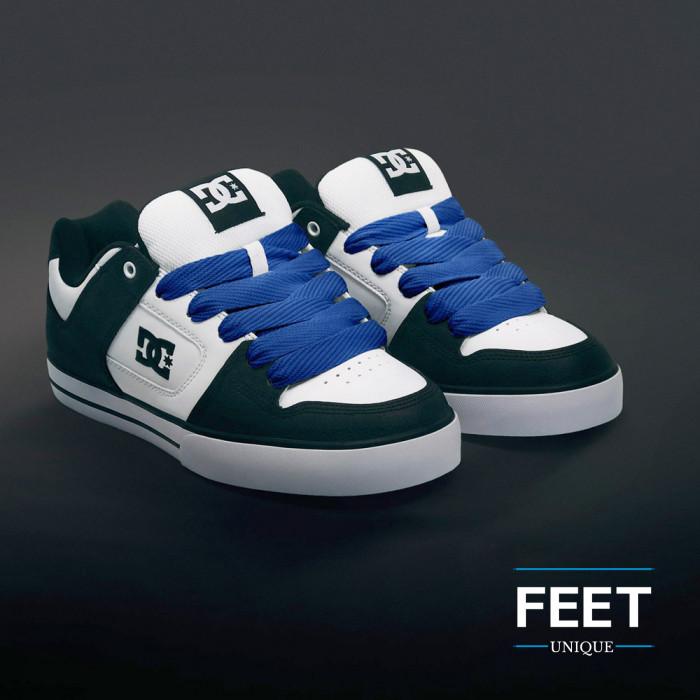 Superleveät siniset kengännauhat