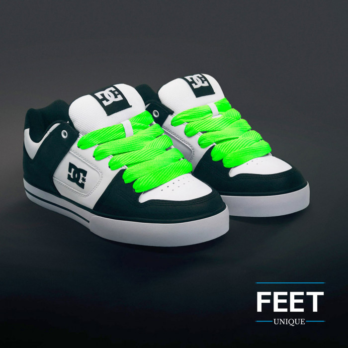 Superleveät neonvihreät kengännauhat