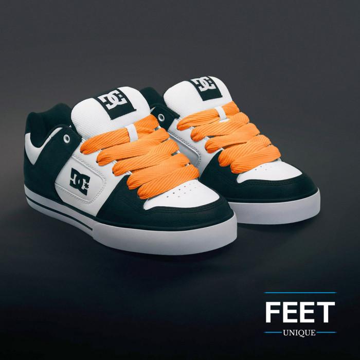 Superleveät oranssit kengännauhat