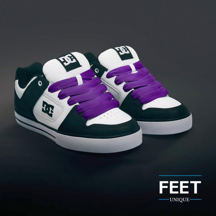 Superleveät violetit kengännauhat