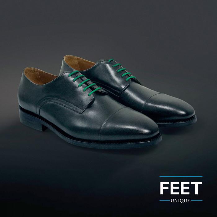 Pyöreät vihreät puvun kengännauhat