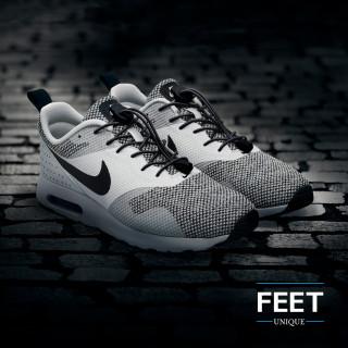 Elastiset lukolliset mustat kengännauhat