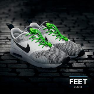 Elastiset lukolliset vihreät kengännauhat