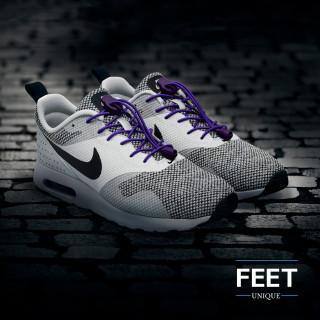 Elastiset lukolliset violetit kengännauhat