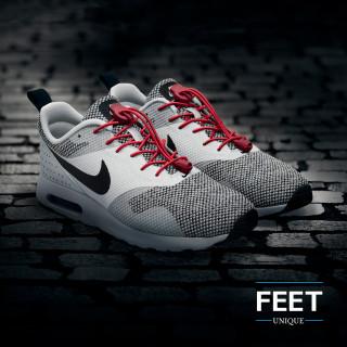 Elastiset lukolliset punaiset kengännauhat