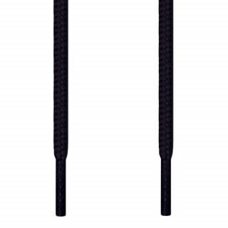 Pyöreät mustat kengännauhat