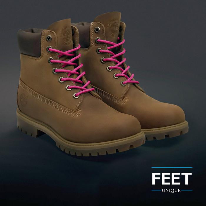 Pyöreät tumman pinkit kengännauhat