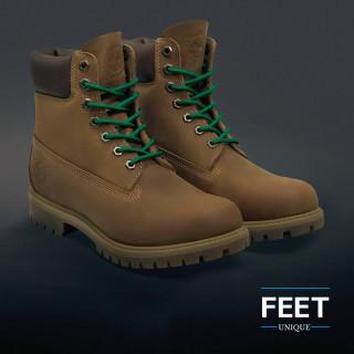 Pyöreät vihreät kengännauhat