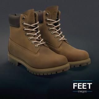 Pyöreät vaalean ruskeat kengännauhat
