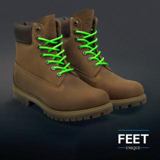 Pyöreät neonvihreät kengännauhat