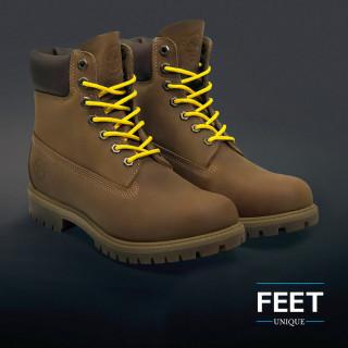 Pyöreät keltaiset kengännauhat