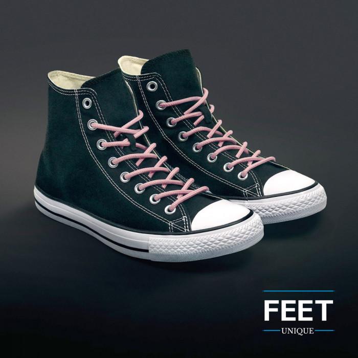Pyöreät pinkit kengänauhat
