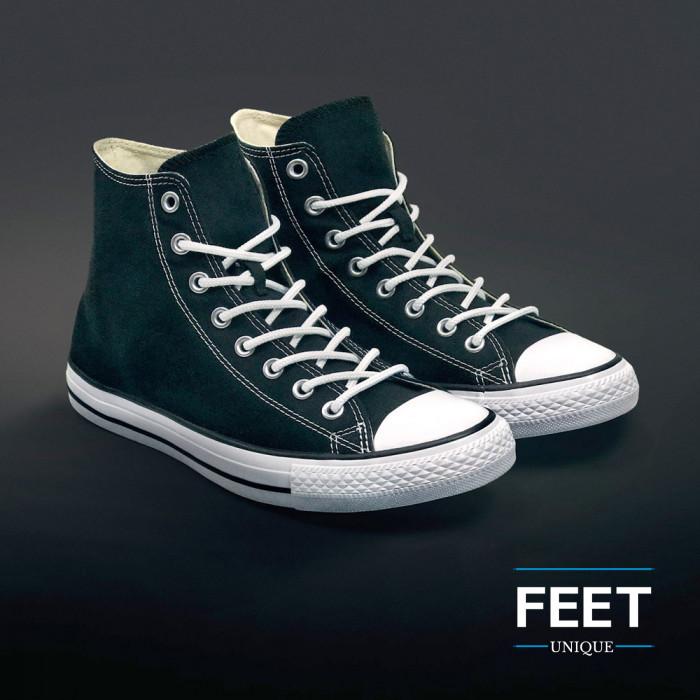 Pyöreät valkoiset kengännauhat
