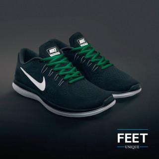Soikeat vihreät kengännauhat