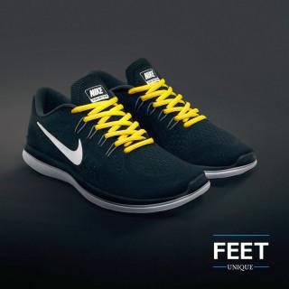 Soikeat keltaiset kengännauhat
