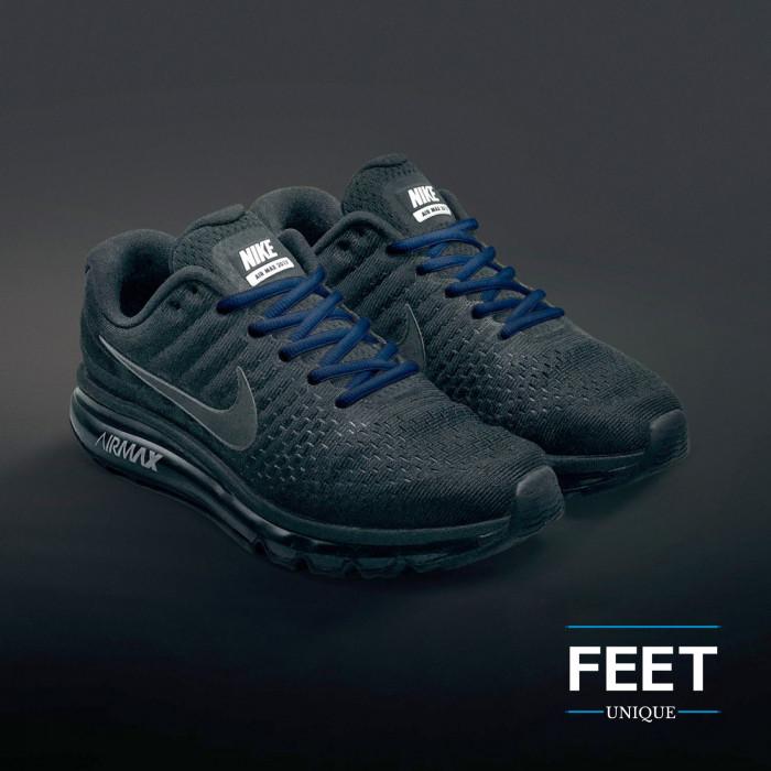 Soikeat laivastonsiniset kengännauhat