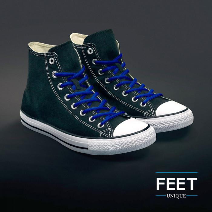 Soikeat siniset kengännauhat