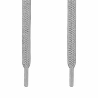 Joustavat litteät vaalenaharmaat kengännauhat (sitomattomat)