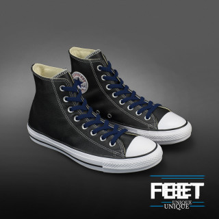 Joustavat litteät laivastonsiniset kengännauhat (sitomattomat)