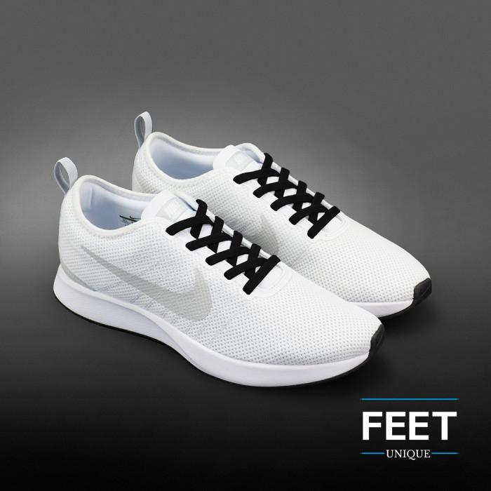 Joustavat litteät mustat kengännauhat (sitomattomat)