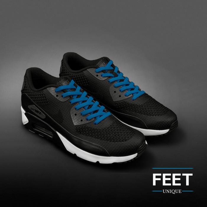 Joustavat turkoosinsiniset kengännauhat (sitomattomat)