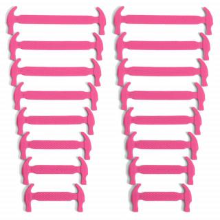 Kuuman pinkit joustavat silikonikengännauhat