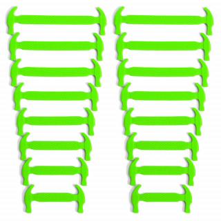 Neon vihreät joustavat silikonikengännauhat
