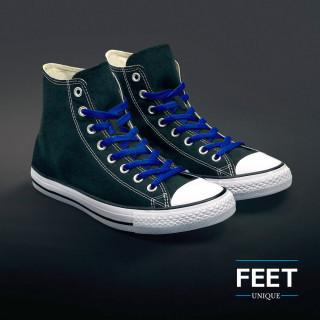 Litteät siniset kengännauhat
