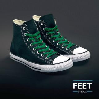 Litteät vihreät kengännauhat