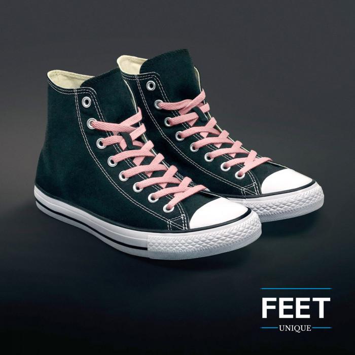 Litteät pinkit kengännauhat