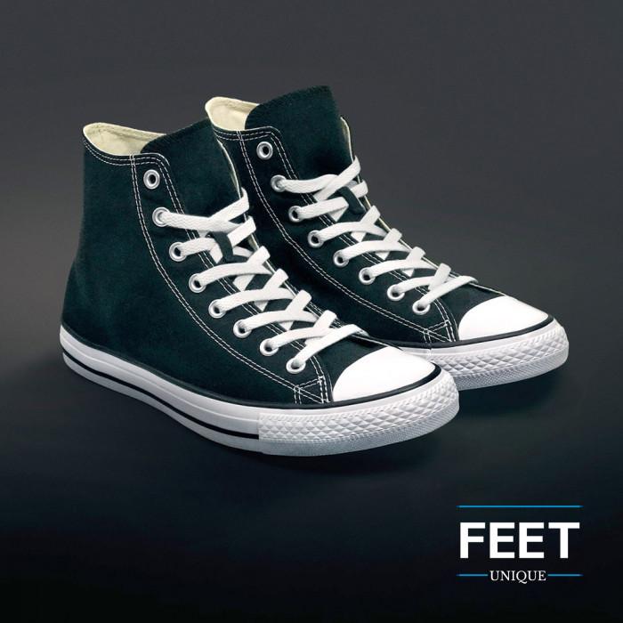 Litteät valkoiset kengännauhat