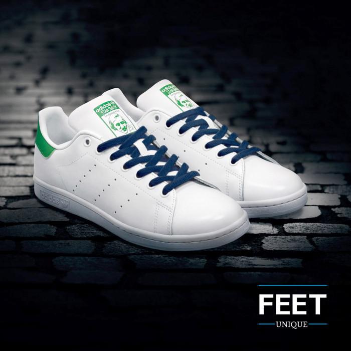 Litteät laivastonsiniset kengännauhat