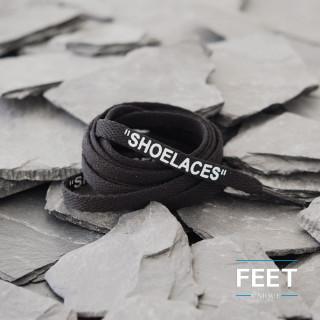 Mustat OFF-WHITE Shoelaces  -kengännauhat