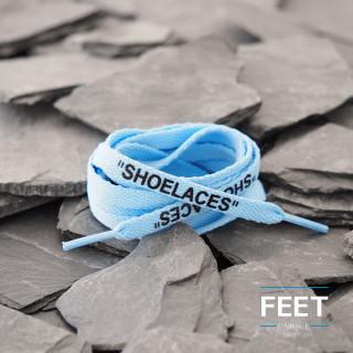 Vaaleansiniset OFF-WHITE Shoelaces  -kengännauhat