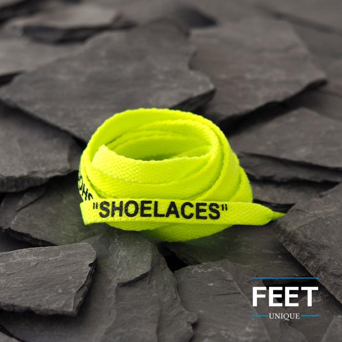 Volt -keltaiset OFF-WHITE Shoelaces -kengännauhat