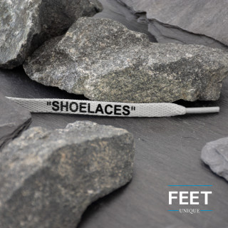 Vaaleanharmaat OFF-WHITE Shoelaces -kengännauhat