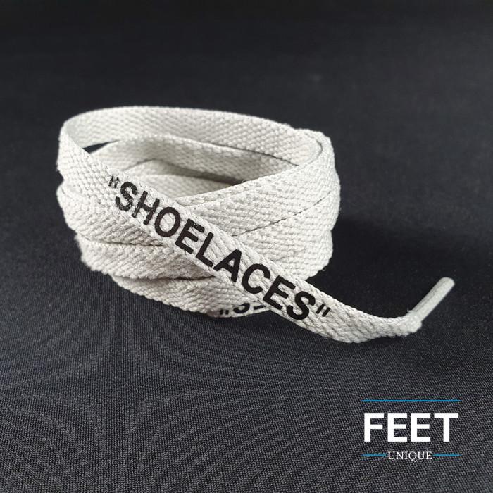 Vaaleanharmaat OFF-WHITE Shoelaces -kengännauhat