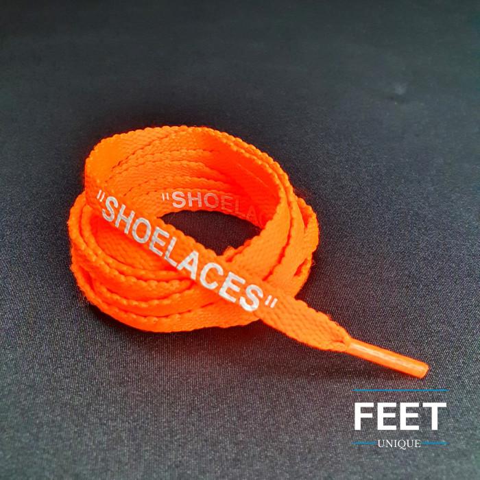 Neonoranssit OFF-WHITE-Shoelaces -kengännauhat