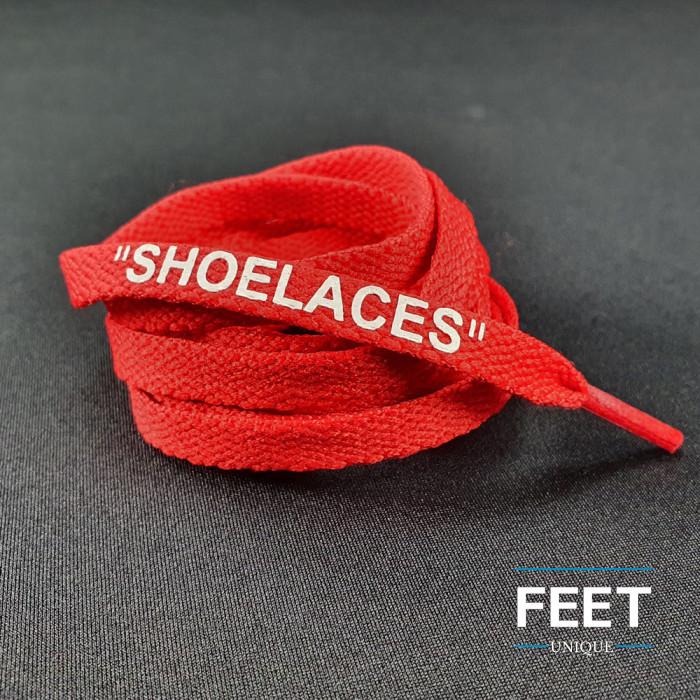 Punaiset OFF-WHITE Shoelaces  -kengännauhat